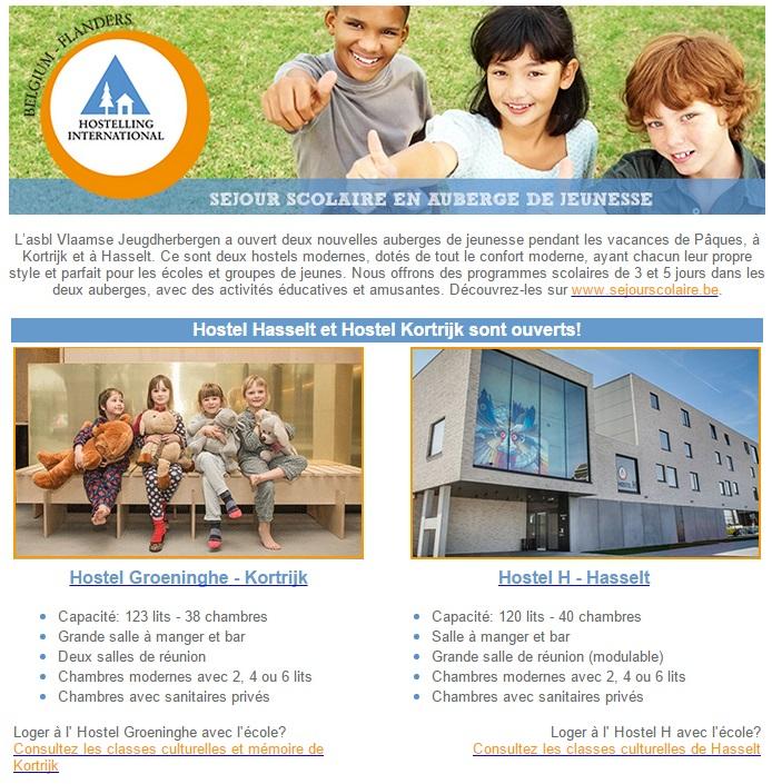 Auberges de Jeunesse en Flandre 1